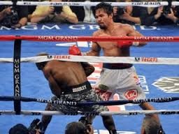 Pacquiao on the attack